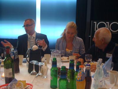 Vi delade bord med Per Welinder och hans familj.