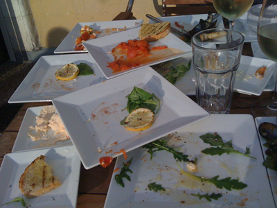 Vi åt upp nästan allt.