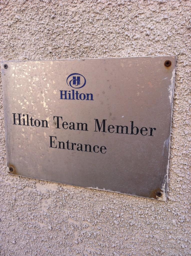 Hilton Team Member Entrance