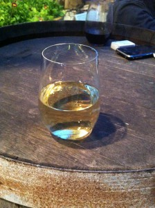 Ett glas riesling på Noer