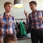 Jag och Dan hade lyckats synka vår klädsel bra