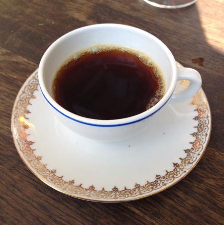 Kaffe på Malmös snyggaste servis