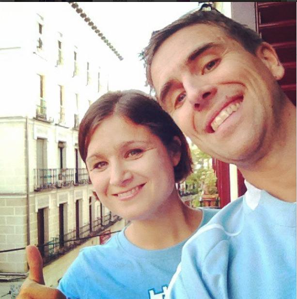 Jag och Helen i Madrid
