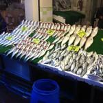 Fiskmarknad på asiatiska sidan.